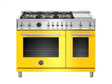 48 inch 6-Burner + Griddle, Electric Self-Clean Double Oven Yellow