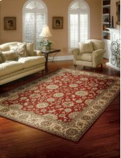 PERSIAN CROWN PC002 RED RECTANGLE RUG 27'' x 18''