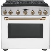 "Caf(eback) 36"" Dual-Fuel Professional Range with 6 Burners (Natural Gas)"