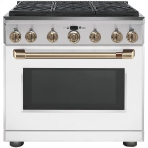 "Cafe36"" Dual Fuel Professional Range with 6 Burners (Natural Gas)"