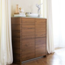 High wooden sideboard