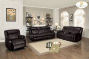 Double Glider Reclining Love Seat with Center Console Product Image