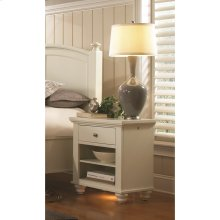 Small 1 Drawer Nightstand (Available in Cherry Brown or Eggshell White Finish)
