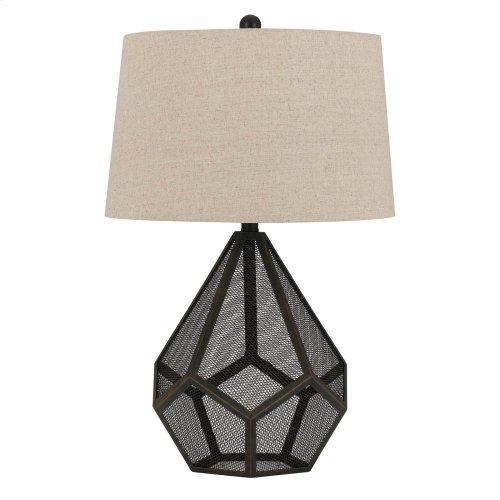 150W Sapelo Metal Mesh Table Lamp