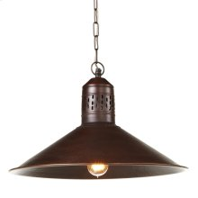 Antique Hammered Copper Pendant. 100W Max. Plug-in with Hard Wire Kit Included.
