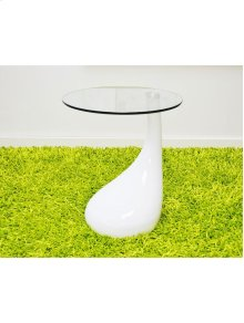 End Table With Glass Top.