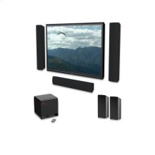 Six-piece 5.1 channel premium on-wall home theater speaker system