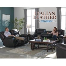 Ultimate Sofa w/3 Recliners & Drop Down Table
