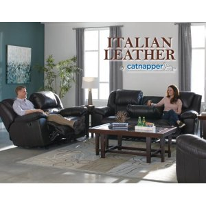 CatnapperUltimate Sofa w/3 Recliners & Drop Down Table