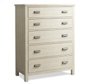 Aberdeen Five Drawer Chest Weathered Worn White finish Product Image
