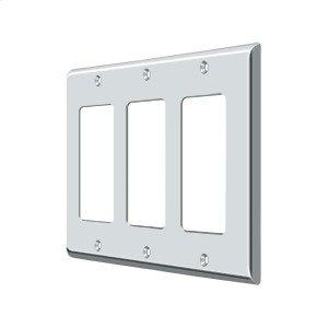Switch Plate, Triple Rocker - Polished Chrome