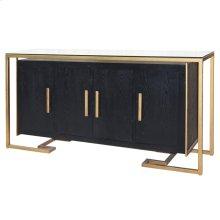 Firenze Floating Sideboard 4 Doors Gold Frame, Espresso