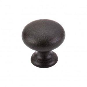 Mushroom Knob 1 1/4 Inch - Rust