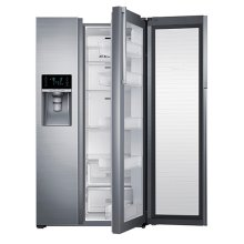 """36"""" Wide, 29 cu. ft. Capacity Side-by-Side Food ShowCase Refrigerator (Stainless Steel)"""