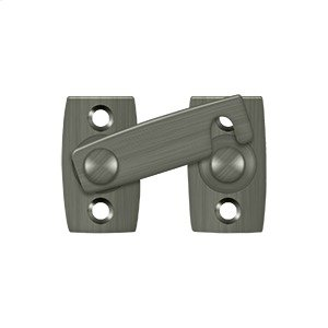 """Shutter Bar/Door Latch 1 3/8"""" - Antique Nickel"""