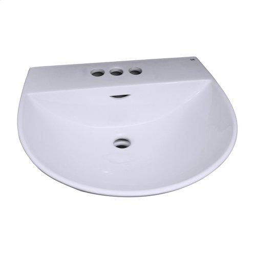 Reserva 550 Pedestal Lavatory - White