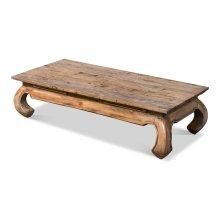Old Teak Peking Garden Table, Large
