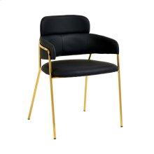 Karl Black Vegan Leather Chair (Set of 2)