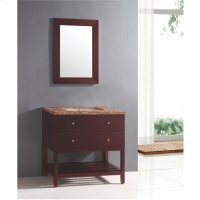 Single 36 in. W Brown Finish Vanity Product Image