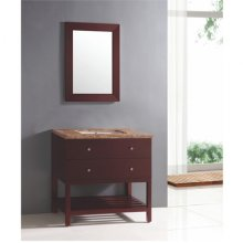 Single 36 in. W Brown Finish Vanity