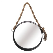 Medium Wall Mirror with Twisted Rope Hanger.