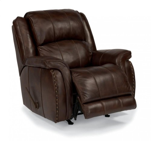 Lorenzo Leather or Fabric Rocking Recliner