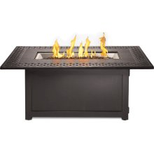 Kensington Rectangle Patioflame Table , Bronze , Propane