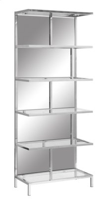 Bentley Chrome and Mirror Etagere