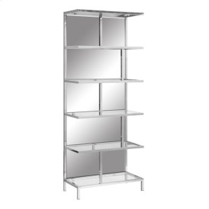 CRESTVIEW COLLECTIONSBentley Chrome and Mirror Etagere