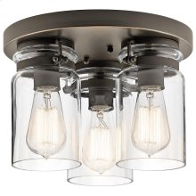 Brinley Collection Brinley 3 Light Flush Mount in OZ