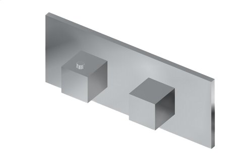 M-Series Square Horizontal Thermostatic 2-Hole Trim Plate and Handle