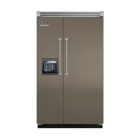 """Stone Gray 48"""" Side-by-Side Refrigerator/Freezer with Dispenser - VISB (Integrated Installation)"""