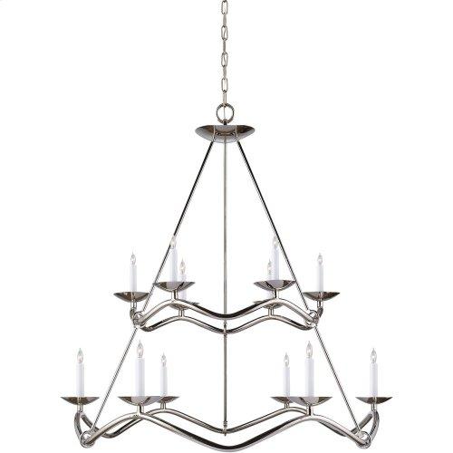 Visual Comfort S5041PN Barry Goralnick Choros 12 Light 37 inch Polished Nickel Chandelier Ceiling Light