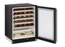 """1000 Series 24"""" Wine Captain® Model With Stainless Frame Finish and Field Reversible Door Swing"""