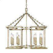 Bellare 8 Light Chandelier in White Gold