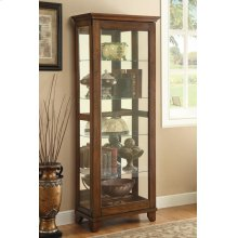 Casual Warm Brown Curio Cabinet