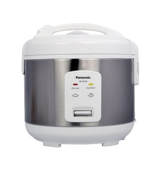 5 Cup (uncooked) Automatic Rice Cooker - Stainless Steel / White - SR-JN105SW