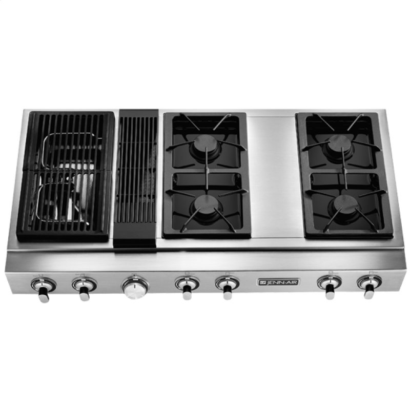 48 Gas Pro Style Downdraft Modular Cooktop