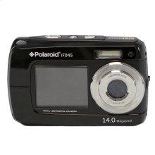 Polaroid 14-Megapixel Waterproof Dual Screen Digital Camera iF045, Black