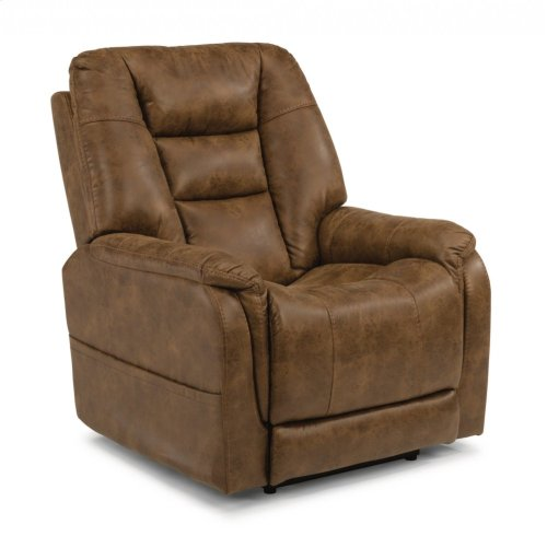 Theo Fabric Power Recliner with Power Headrest