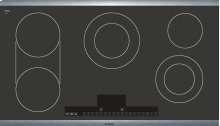 """36"""" Stainless Steel Electric Cooktop with Touch Control 500 Series - Black and Stainless Steel NET5654UC"""