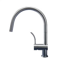 This Professional version of the iconic Vela is fitted with a wider arched spout, making it ideal for larger sinks.