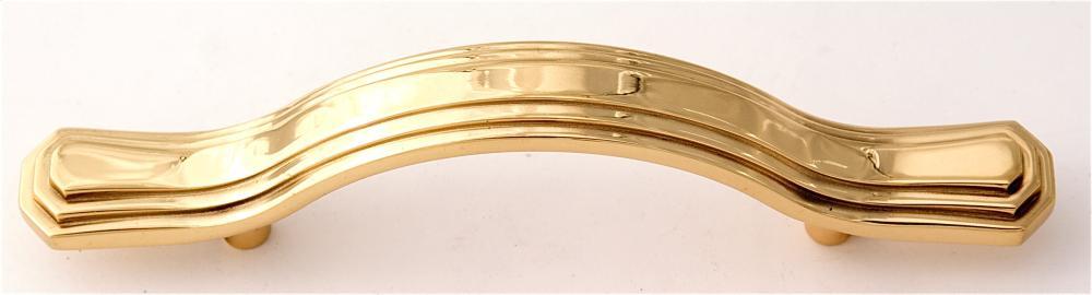 Geometric Pull A1516-3 - Polished Brass