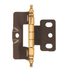 Non Self-closing, Full Wrap 3/4in(19mm) Door Thick. Hinge