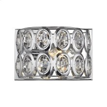 Tessa 1-Light Vanity Sconce in Polished Chrome with Clear Crystal