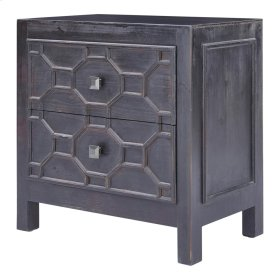 Silvestro Distressed Side Table 2 Drawers, Antique Brown