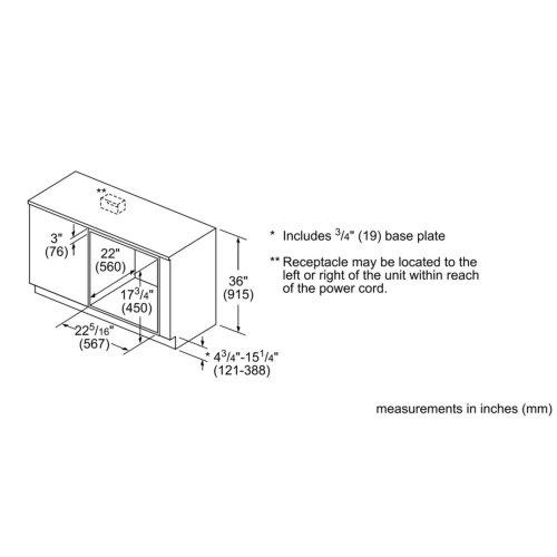 500 Series Speed Oven 24'' Stainless steel HMC54151UC