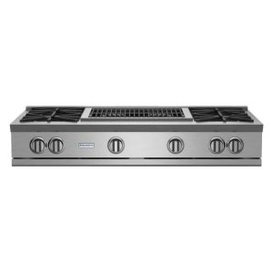 "Bluestar48"" Rnb Rangetop With 24"" Charbroiler"