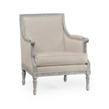 Occasional Chair Upholstered in MAZO