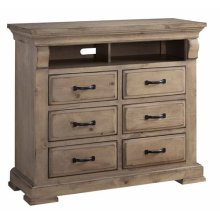 Media Chest - Natural Finish